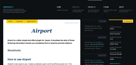 jQuery Airport