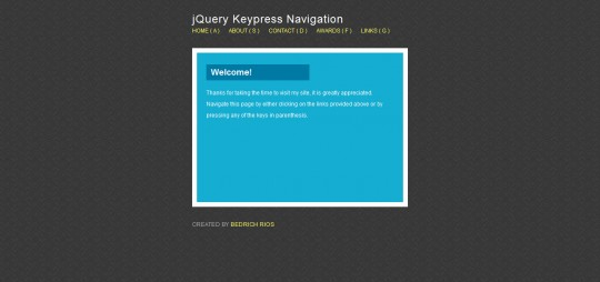 Create A Keypress Navigation Using jQuery