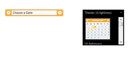 Date Range Picker using jQuery and CSS Framework