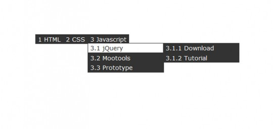 Multilevel Dropdown Menu with CSS and Improve it via jQuery