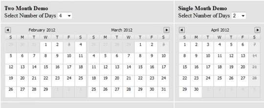 Sexy jQuery Multiday Calendar Datepicker Plugin – jCal