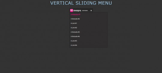 Sliding Jquery Menu