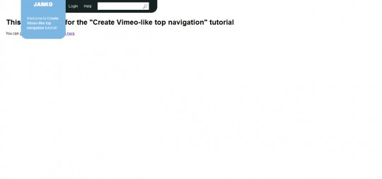 Create Vimeo-like top navigation