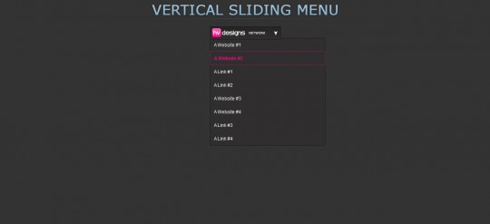 Vertical Sliding jQuery Menu