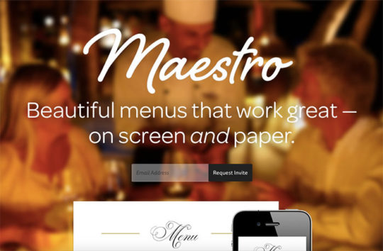 Maestro - Websites with Blurred Backgrounds