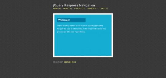 Create A Keypress Navigation Using jQuery