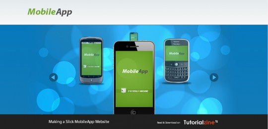 Making a Slick MobileApp Website with jQuery & CSS