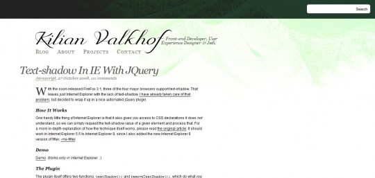Text-shadow in IE with jQuery