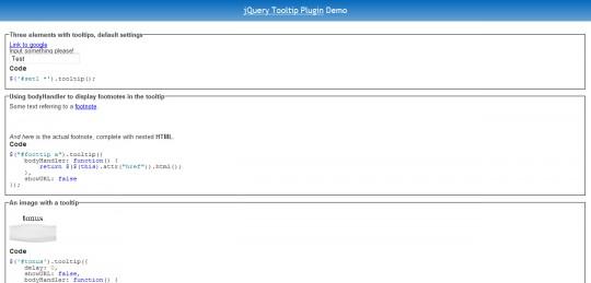 jQuery Tooltip Plugin