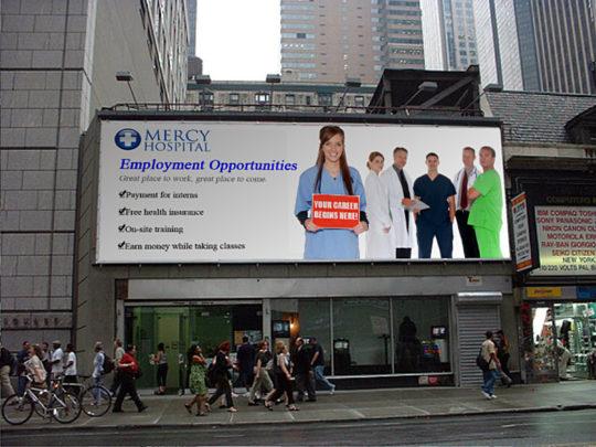 Mercy Hospital Billboard