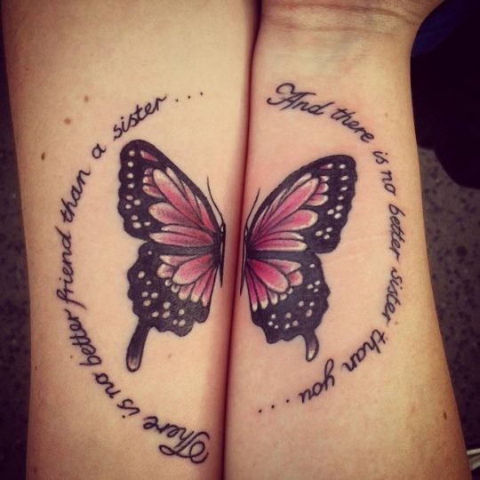 Good Butterfly Sister Tattoo Trend