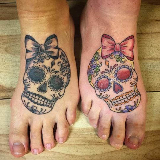 Sugar Skull Sister Tattoo for Party