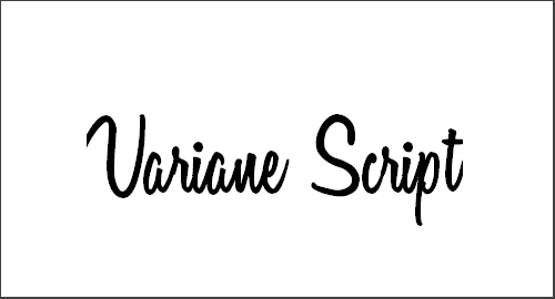 Variane Script Font
