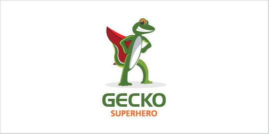 Gecko Best Superhero Logos